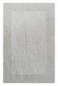 Chardin Home - 100% Pure Cotton - Splendour reversible Bath Rug, 50cm x 90cm highly absorbent & heavy duty bathroom mat, White