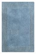 Chardin Home - 100% Pure Cotton - Splendour reversible Bath Rug, 50cm x 90cm highly absorbent & heavy duty bathroom mat, Marine Blue