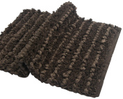 Chardin home - Shelby soft & durable Tissue rug. Cotton poly blended Bath mat or accent rug -50cm x 80cm , Chocolate brown