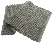 Chardin home Plush Solid Pebbles Microfiber Chenille Rug, Grey