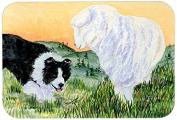 "Caroline's Treasures SS8103CMT ""Border Collie"" Kitchen or Bath Mat, 20"" by 30"", Multicolor"