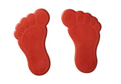 Ridder 695060-350 Mini Bath / Shower Mat XXS Feet Red