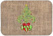 """Caroline's Treasures 8745CMT """"Christmas Tree Fleur De Lis"""" Kitchen or Bath Mat, 20"""" by 30"""", Multicolor"""