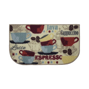 Structures Textured Loop 46cm x 80cm . Wedge-Shaped Kitchen Accent Rug, Coffee, Beige/Blue/Red