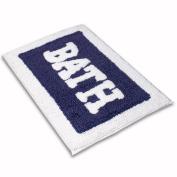 Loop Kitchen Navy 100% Cotton Bath rug mat Area Rug, Kitchen, Door & Bath Rug , Decorative, Stylish Designs