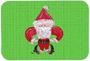 """Caroline's Treasures 8500JCMT """"Christmas Fleur De Lis Santa Claus"""" Kitchen or Bath Mat, 60cm by 90cm , Multicolor"""