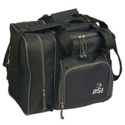 BSI Deluxe Single Ball Bowling Bag- Black
