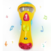 EchoAcc® Microphone Kids Toys Baby Sing & Learn Microphone (Recording.Transform Acoustic,Songs and lighting) Electronic Karaoke Musical Star Christmas Gifts