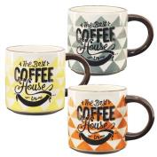 Art Deco Home - Cup Mug x3 coffee 12 cm