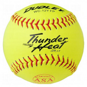 Dudley ASA Thunder Heat 30cm Fast Pitch Softball - Composite Cover - Dozen