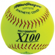 MacGregor X52RE ASA Slow Pitch Synthetic Softball, 30cm , Pack of 12