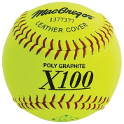 MacGregor X52RE ASA Slow Pitch Leather Softball, 30cm