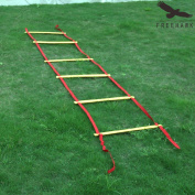 Freehawk Adjustable Flat Agility Ladder with Free Carry Bag - Best Speed Training Equipment For Agility Training Ideal Speed Ladder And Footwork Ladder For High Intensity Football Drills And More