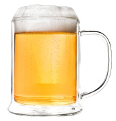 Creano 247 Thermal Glass Deco Glass Beer Glass, Clear, 1 x 500 ml 13 x 13 x 13 cm