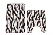 Maiija Zebra Non-Slip Memory Foam Contour Bathmats