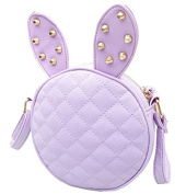 VISKEY Girl Rabbit Ears Rivets Pu Leather Handbag Shoulder Bag