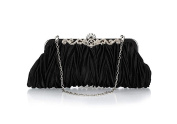VISKEY Womens Vintage Satin Envelope Cocktail Evening Bag Party Handbag
