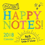 2018 Instant Happy Notes Boxed Calendar