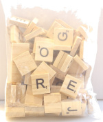 Doyeemei Wooden Scrabble Tiles Full Set Of 100, Craft, Board Games, Jewellery Making Kit VARNISHED TILES