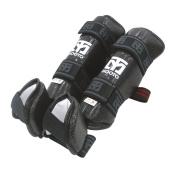Mooto Taekwondo Shin Instep Protector Knee Leg Guard Black & White S to XL