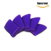 Delight eShop 5pcs/set Stretchy Finger Sleeves, Elastic Finger Sleeve Protector for Basketball Badminton Weightlifting etc