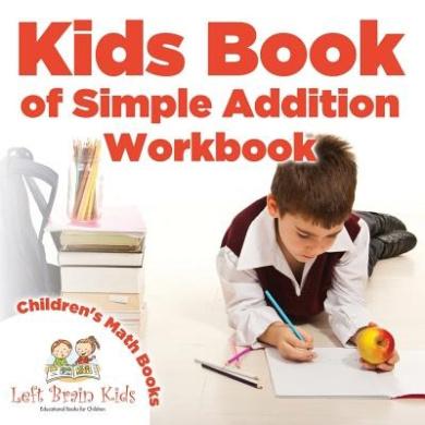 Kids Book of Simple Addition Workbook - Children's Math Books