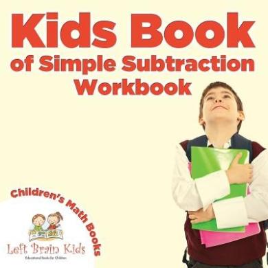 Kids Book of Simple Subtraction Workbook - Children's Math Books