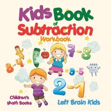 Kids Book of Subtraction Workbook - Children's Math Books