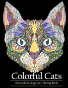 Adult Coloring Book Colorful Cats
