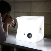 HMMJ Portable Folding Small Studio Lightbox, Shooting Box Photography with LED Light, Mini Tent Kit Suit Light Room Backdrop Cube Soft Box for Camera and Smartphone