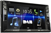 JVC KW V235 DBT DAB +, DVD/CD/USB Reciever with Built-in Bluetooth and VGA Resolution 15.7 cm (6.2 inch) Touch Panel Black