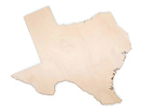 Wooden Texas 30cm State Cutout Birch 1/4 State Shaped Cutout Unfinished