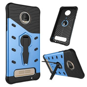 Moto Z Play Case, NOKEA Heavy [Heavy Duty] [Dual Layer] Combo Holster Cover Defender Full Body Protective Cover with 360 Degree Rotating Kickstand for Motorola Moto Z Play Droid