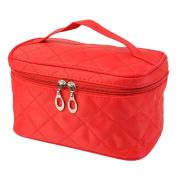 DDLBiz Square Case grain of Pure Colour Cosmetic Bag Women Travel Makeup Bag