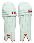 Master Blaster BDM Mens Batting Pads Right Handed Cricket Leg Guard PU Leather