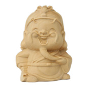 CLHK Cartoon off the bus Decoration boxwood hand carved pieces of jewellery wooden handicrafts collection statues , diameter 46mm high 60mm