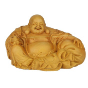 CLHK Proud of Maitreya boxwood wood sculpture home wood ornaments were collections of works of art statues , wide 115mm high 62mm