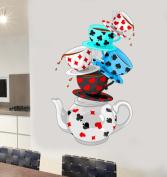 Wonderland Tea Party Wall Art Vinyl Stickers - JUMBO - 130cm x 78cm - SELECT SIZE FROM MENU BELOW
