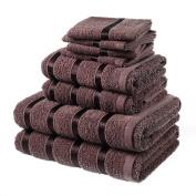 Laura Secret Bale Towel Set, Cotton, Chocolate, Pack of 8