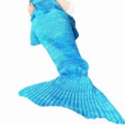 Mermaid Tail Blanket for Kids and Adult,Crochet Snuggle Mermaid,All Seasons Mermaid Sleeping Bag Blanket