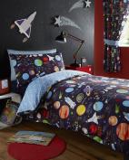 Kids Planets Junior Duvet Cover and Pillowcase Set - 120cm x 150cm