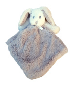 Blankets & Beyond Minky Bunny Security Blanket - Silver and White Solid Colour