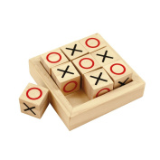 Bigjigs Toys Mini Wooden Noughts and Crosses Game for Children - Christmas Gifts, Stocking Filler Toys