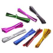 Outus 800 Pieces 10cm Metallic Twist Ties, 8 Colours