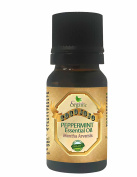 PEPPERMINT ESSENTIAL OIL 10 ML Organic Therapeutic Grade A Wellness Relaxation 100% Pure Undiluted Steam Distilled Natural Aroma Premium Quality Aromatherapy diffuser Skin Hair Body Massage
