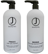 J Beverly Hills Masque Conditioner, 950ml + Fragile Colour Safe Shampoo 950ml