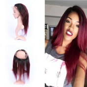 tony beauty hair brazilian virgin human hair ombre #1b 99j straight 360 lace band frontal 22.5x 4x 2 dark root bungundy 360 lace band frontals with baby hair