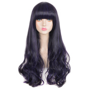 SiYi Anime Monster High Elissbat Cosplay Party Halloween Lolita Goth Lovely Pruple Mixed Black Full Wig