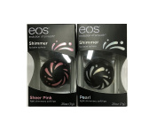 EOS Shimmer Lip Balm Sphere .740ml - 2 Pack - Sheer Pink and Pearl