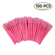 Shintop 100pcs Eyelash Mascara Brushes Disposable Eye Lash Wands Applicator
